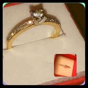 10k gold diamond ring promise ring/ engagement eve